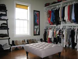 image of how to organize a walk in closet on a budget converting