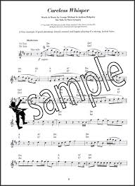 careless whisper tenor sax sheet music saxmania great sax solos alto tenor saxophone music book baker