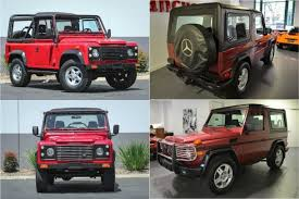 Result was even in the mid 90s a new g wagon would run you $100k easily. Qotd Land Rover Defender Vs Mercedes Benz G Wagon Pick Your Poison