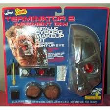 terminator 2 metallic cyborg makeup kit with light up eye middot zombie zipper prosthetic