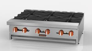 sierra srhp 6 36 countertop gas hotplate 36in w 6 burners 180 000 btu restaurant equipment and supplies restaurant depot