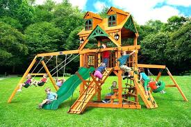 a frame swing set plans wood build dream outdoor wooden climbing w riviera roof play brackets