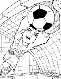 Small Picture Goalkeeper coloring page Soccer Coloring Pages Pinterest