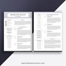 Modern Executive Resume Template Editable Professional Resume Template 2019 Cover Letter Office Word Resume Simple Cv Template Creative Modern Resume Instant Download Madeline