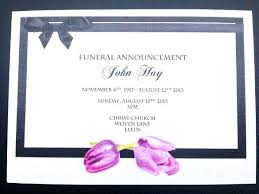 Memorial Service Invitation Wording Fascinating Funeral Invitation Template Announcement Cards Templates Free Vector