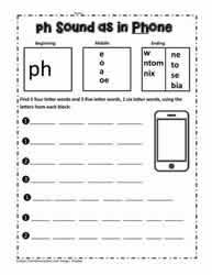 There are differences in opinion about whether using phonics is when approaching word families, i like to learn them in sets that have some commonality (for example, short a sounds or long e sounds). Ph Digraph Activities Worksheets