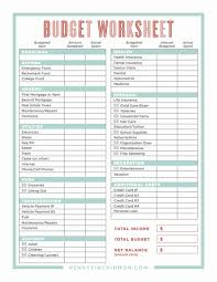 Personal Budget Planner Template Examples Spreadsheet