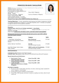 Resume Format 2017 Latest Cv Format Pdf 100 c100ualwork100org 67