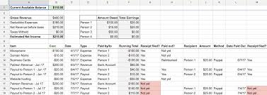 Samples Of Budget Spreadsheets Accounting For Podcasts Bello Collective