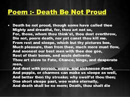 death be not proud john donne essays death be not proud holy sonnet 10 shmoop