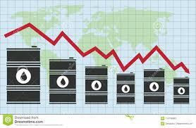 Crude Oil Stock Chart Vector Crude Oil Price Financial Chart Stock Vector