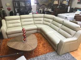 a sectional sofa leather recliner beige
