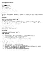 Job Duties For Sales Associate Sales Representative Skills Resume