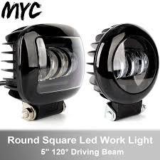 6D Ống Kính 5 Inch 30W Vuông Tròn Lũ Chùm Đèn Led Làm Đèn Xe Máy Xe SUV Xe  4X4 xe Tải Offroad 12V Đèn Sương Mù Light Bar/Work Light