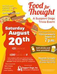 Trivia Night Flyer Food For Thought 1 Duo Dogs