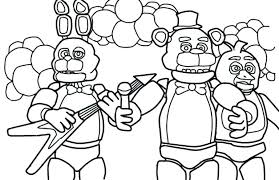 Five Nights At Freddys Coloring Pages Printable Print Family Five