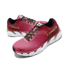 Details About Hoka One One W Elevon Hot Pink White Women Road Running Shoes 1019268 Hpcj
