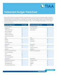 Retirement Budget Worksheet How To Create A Retirement