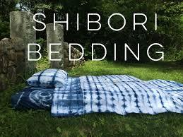 diy shibori bedding