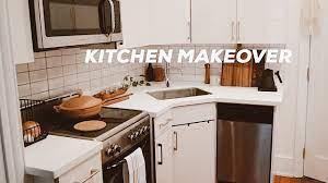 Diy Kitchen Makeover On A Budget Small Kitchen Design Ideas Renter Friendly Youtube