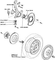Hub and steering knuckle ponents prelude and accord