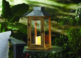 better homes gardens outdoor 16 in solar powered wood lantern