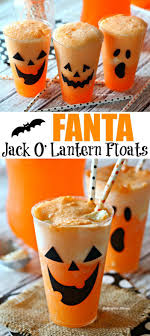 Fanta Jack O' Lantern Floats - how fun are these for Halloween?