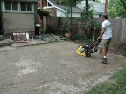 how to lay a paver shed foundation for