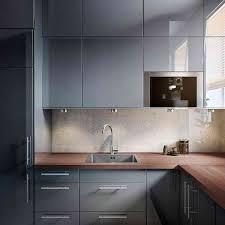 Cuisine Ikea Ringhult Gris Cik Kitchen Grey Ikea Kitchen