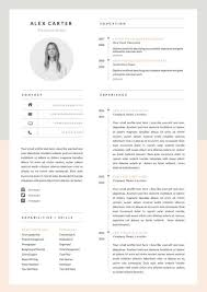 Modern Resume Style Esty Modern Resume Template Cover Letter Icon Set For Microsoft Etsy