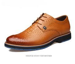 <b>NEW Crocodile</b> Grain Cusp Leather Shoes Men'S Dress Shoes ...