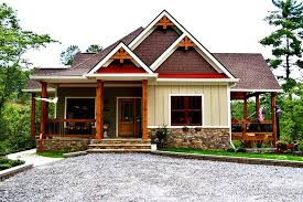 craftsman 3 bedroom lake house plan walkout basement