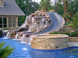 stone around above ground pool find this pin and more on piscinas stone wall around above
