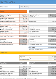 lease a car vs buy car buy vs lease calculator excel business insights group ag