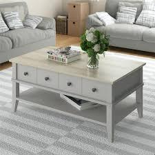 grey coffee table oak square velvet ottoman dark gray set