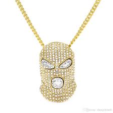whole hiphop csgo pendant necklace mens punk style 18k silver and gold diamond