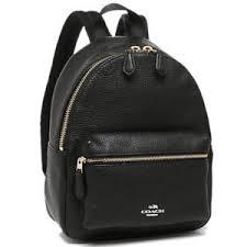 Coach F38263 Mini Charlie Backpack in Pebble Leather Black