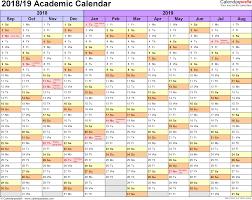 Sample Academic Calendar Academic calendars 2424 as free printable Excel templates 1