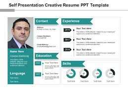 Resume In Powerpoint Self Presentation Creative Resume Ppt Template