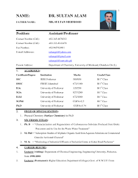 Sample Resume Best Matrimonial Biodata Samples Valid Biodata Form In