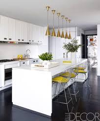 White And Yellow Kitchen Kitchen Amusing Modern White Kitchen In Open Plan Living Room