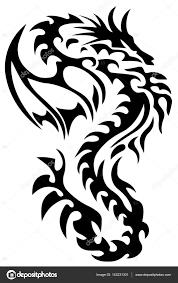 легкий дракон тату дракон татуировки племенной дракон черный и