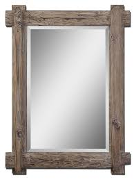 bathroom solid wood mirror frame for rustic design