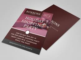 Holiday Shopping Party Flyer Template Mycreativeshop