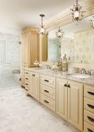 cool mini chandelier look minneapolis traditional bathroom innovative designs with beige bathroom vanity beige cabinets beige