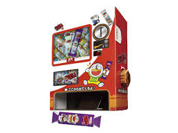 Vending Machine Charity Stickers Adorable Japan Trend Shop Sakuto Kosaku Selfassembly Umaibo Candy Vending