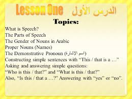 topics what is speech the parts of speech the gender of nouns in 1 topics