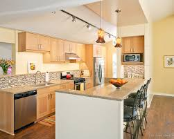 maple kitchen cabinets backsplash. Cabinets Modern Kitchen With Custom N Pendant Lights. Backsplash Maple