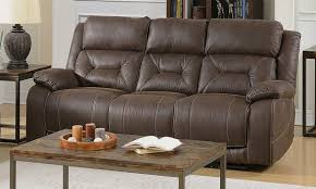 aria brown lay flat power reclining sofa with gel memory foam