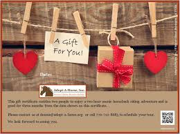free collection of 30 printable gift certificates with horses